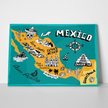 Illustrated map mexico 312765077 a