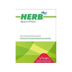 Vican Herb Spare Filter Ανταλλακτικά πίπας 24τμχ