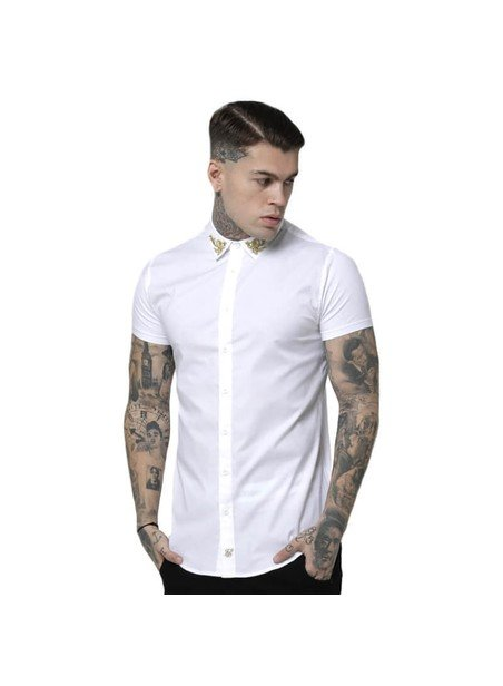 SikSilk S/S Venetian Shirt - White