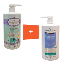 PHARMASEPT BABY MILD BATH 1000ML + HYGIENIC SHOWER 1000ML
