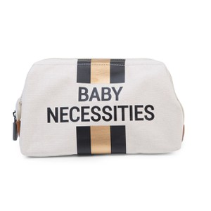 Νεσεσέρ Childhome Baby Necessities Canvas Off White Stripes Black/Gold