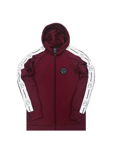 VINYL ART CLOTHING BORDEAUX HOODIE FULL ZIP