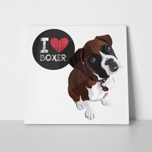 I love boxer dog 344463590 a