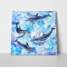 Blue sea dolphins painting 1009230847 a