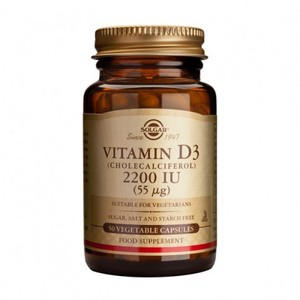 SOLGAR Vitamin D3 2.200iu 50vegetable capsules