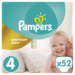 Pampers Premium Care No 4 (8-14Kg) Πάνες 52Τμχ