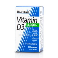 HEALTH AID - Vitamin D3 5000iu - 30caps