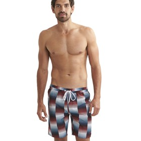 "Printed Check Leisure 18"" Watershort Print 8   Βερμ. Εισ.Ανδ"