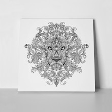 Lion head line art 262591511 a