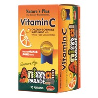 NATURES PLUS ANIMAL PARADE VITAMIN-C (ORANGE FLAVOR) 90CHEW. TABL