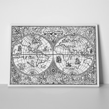 Black   white vintage world map 500731063 a
