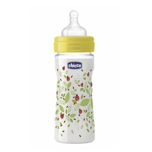 Chicco silicone 2m  230ml baby bottle