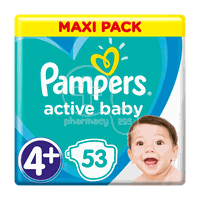 PAMPERS - MAXI PACK Active Baby Νο4+ (10-15kg) - 53 πάνες