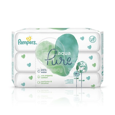 PAMPERS - PROMO PACK AQUA PURE Baby Wipes - 3x48τεμ.