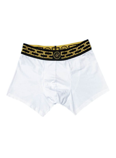 SikSilk Cartel Tape Boxer Shorts - White