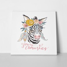 Hand drawn stylish zebra 739631215 a