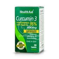 HEALTH AID - Curcumin 3 with Piperine 600mg - 30tabs