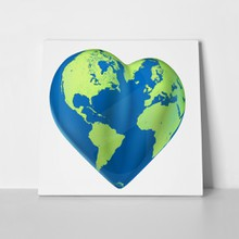 Heart world map 45523210 a