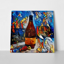 Still life alcoholic drinks cubism 642357538 a