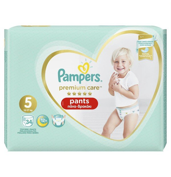 PAMPERS PREMIUM PANTS ΜΕΓ 5 1X34 JUMBO ST