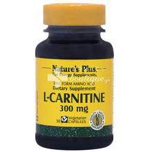 Nature's Plus L-CARNITINE 300mg, 30vcaps