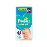 PAMPERS ACTIVE BABY No4 (9-14 KG) MAXI PACK (58TEM)