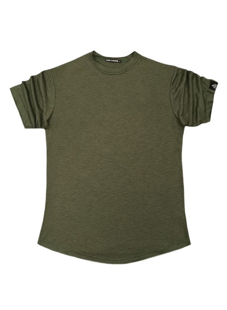 TONY COUPER KHAKI BASIC T-SHIRT