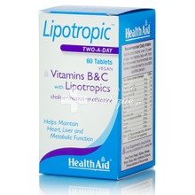 Health Aid LIPOTROPIC with B & C - Αδυνάτισμα, 60tab