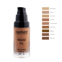 RADIANT NATURAL FIX ALL DAY MATT MAKE UP SPF15 30ML No6-TAN