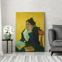 Van gogh   l arlesienne   madame ginoux with books