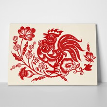 Hand drawn chicken flowers 541976089 a