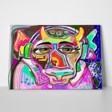 Portrait colorful cow abstract 1052670662 a