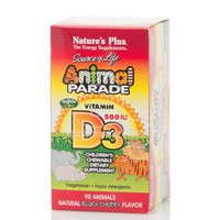 NATURE'S PLUS - ANIMAL PARADE Vitamin D3 500IU - 90chew.tabs