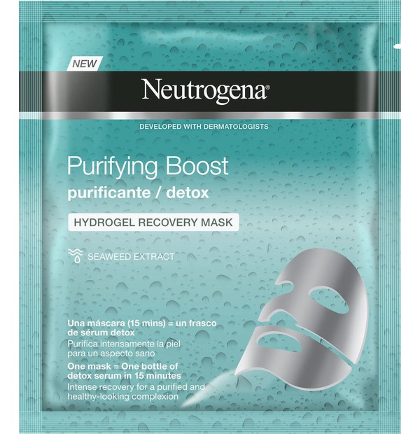 Neutrogena Purifying Boost The Detoxifier Hydrogel Μάσκα Αναδόμησης 30ml