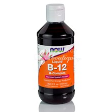 Now Vitamin B-12 Complex Liquid 8 oz - Νευρικό Σύστημα, 237ml