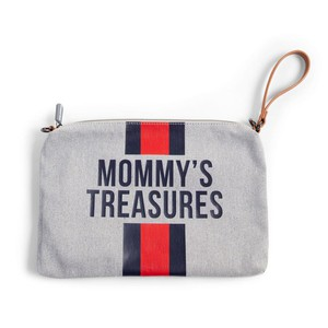 Νεσεσέρ Childhome Mommy Treasures  Clutch Canvas  Grey Stripes Red/Blue