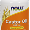NOW CASTOR OIL 650 MG+10 MG FENNEL OIL 120 SOFTGEL