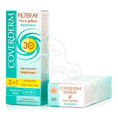 COVERDERM - FILTERAY Face Plus Dry/Sensitive Tinted Cream SPF30 (Soft Brown) - 50ml