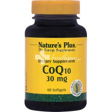Nature's Plus, Coenzyme Q10 30 mg, 60 softgels
