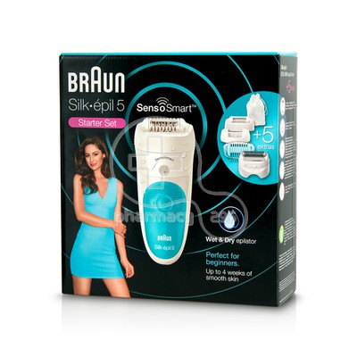 BRAUN - SILK-EPIL 5 Senso Smart Wet & Dry Epilator Αποτριχωτική Μηχανή SES5/890