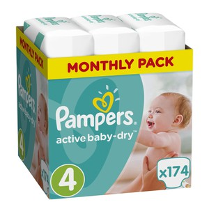 08001090172556 pampers active baby dry no4  174s
