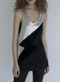 MiRoLovesSugarfree SLEEVELESS TOP WITH SEQUINS
