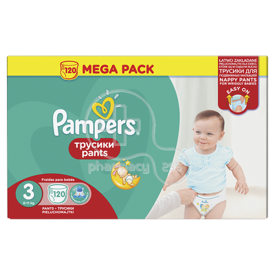 PAMPERS - MEGA PACK Pants No3 (6-11kg) - 120 πάνες