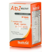 Health Aid  A to Z Multivit, 30 veg. tab.