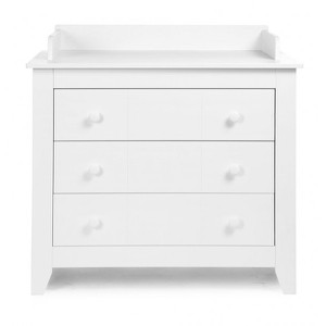 Flemish White Chest 3 Drawers + Extension