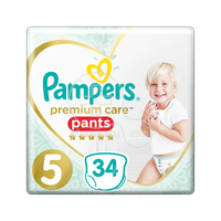 PAMPERS - PREMIUM CARE Pants No5 (12-17kg) - 34 πάνες
