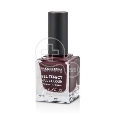KORRES - GEL EFFECT Nail Colour No57 Burgundy Red- 11ml