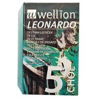 WELLION LEONARDO STRIPS CHOLESTEROL 5TEM