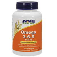 NOW OMEGA 3-6-9 1000 MG, 100 SOFTGELS