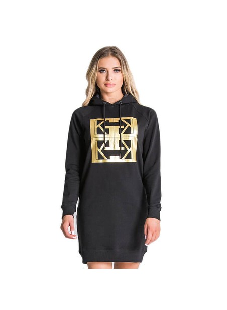Gianni Kavanagh Black GK Monogram Special Edition Hoodie Dress